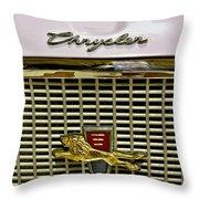 1960 Chrysler Windsor Hood Grill Throw Pillow