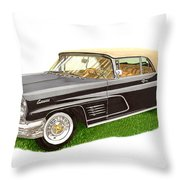 1960 Continental Convertible Throw Pillow