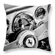 1960 Ferrari 250 Gt Cabriolet Pininfarina Series II Steering Wheel Emblem -1319bw Throw Pillow