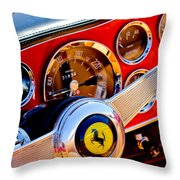 1960 Ferrari 250 Gt Cabriolet Pininfarina Series II Steering Wheel Emblem -1319c Throw Pillow