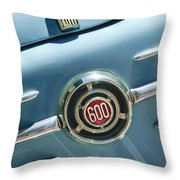 1960 Fiat 600 Jolly Emblem Throw Pillow