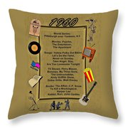 1960 Great Events Throw Pillow