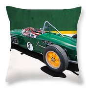 1960 Lotus 18 Fj Throw Pillow