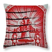 1960 Mexican Independence Stamp Throw Pillow