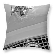 1960 Nash Metropolitan Hood Ornament Throw Pillow