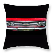 1960 Red Chevy Throw Pillow