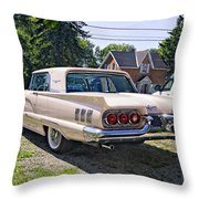 1960 Thunderbird 2 Throw Pillow