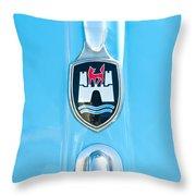 1960 Volkswagen Vw Hood Emblem 2 Throw Pillow