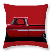 1960's Chevy C10 Pickup Throw Pillow