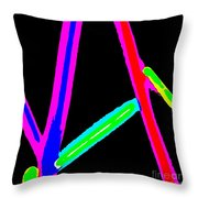1960s Neon Throw Pillow
