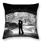 1960s Silhouette Of Anonymous Young Throw Pillow