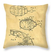 1960s Toy Hand Grenade Throw Pillow