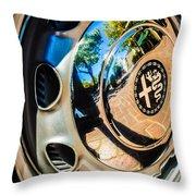 1961 Alfa Romeo Giulietta Sprint Speciale Wheel Emblem -0051c Throw Pillow
