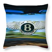 1961 Bentley S2 Continental - Flying Spur - Emblem Throw Pillow