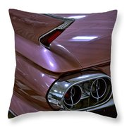 1961 Cadillac Coupe 62 Taillight Throw Pillow