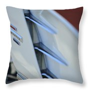 1961 Chevrolet Corvette Side Emblem 4 Throw Pillow