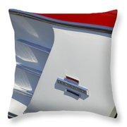 1961 Chevrolet Corvette Side Emblem Throw Pillow