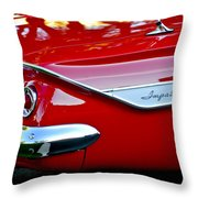 1961 Chevrolet Impala Taillight Emblem Throw Pillow