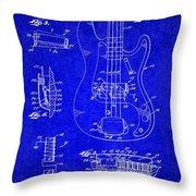 1961 Fender Guitar Throw Pillow