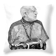 Sir Stirling Moss 1961 Ferrari G T 250 Throw Pillow