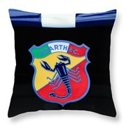 1961 Fiat-abarth 1000 Bialbero Gt Competition Coupe Emblem Throw Pillow