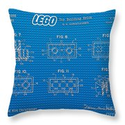 1961 Lego Building Blocks Patent Art 1 Throw Pillow