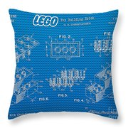1961 Lego Building Blocks Patent Art 2 Throw Pillow