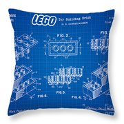 1961 Lego Building Blocks Patent Art 3 Throw Pillow