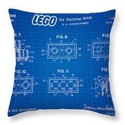 1961 Lego Building Blocks Patent Art 4 Throw Pillow