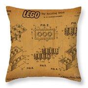 1961 Lego Building Blocks Patent Art 5 Throw Pillow