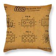 1961 Lego Building Blocks Patent Art 6 Throw Pillow