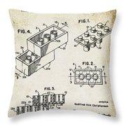 1961 Lego Patent Throw Pillow