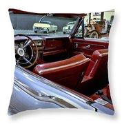 1961 Lincoln Continental Interior Throw Pillow
