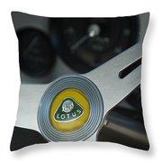 1961 Lotus Elite Series II Coupe Steering Wheel Emblem Throw Pillow