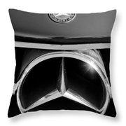 1961 Mercedes-benz 300 Sl Grille Emblem Throw Pillow