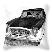 1961 Nash Metro In Black White Throw Pillow
