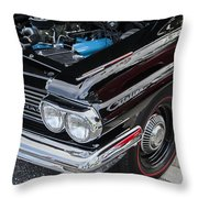 1961 Pontiac Catalina 421 Throw Pillow