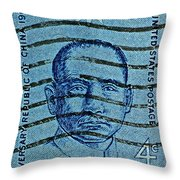 1961 Sunyat-sen China Stamp Throw Pillow
