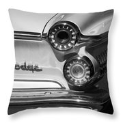 1962 Dodge Dart Taillight Emblem Throw Pillow