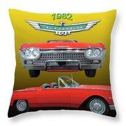 1962 Ford T-bird Sport Throw Pillow