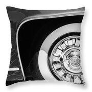 1962 Ghia L6.5 Coupe Wheel Emblem Throw Pillow