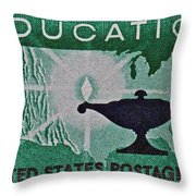 1962 Higher Education Stamp Throw Pillow