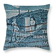 1962 Homestead Act Stamp Throw Pillow