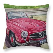 1962 Mercedes Benz 190sl Throw Pillow