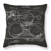 1963 Automatic Phonograph Jukebox Patent Artwork - Gray Throw Pillow