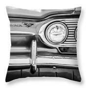 1963 Chevrolet Corvair Monza Spyder Headlight Emblem -0594bw Throw Pillow