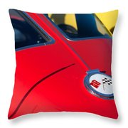 1963 Chevrolet Corvette Convertible Emblem Throw Pillow
