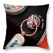 1963 Chevrolet Corvette Dashboard Throw Pillow
