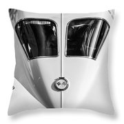 1963 Chevrolet Corvette Split Window -386bw Throw Pillow