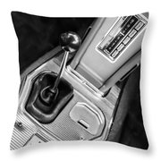 1963 Chevrolet Corvette Split Window Dash -155bw Throw Pillow